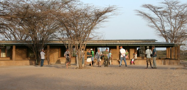 Scientists from around the world attend a conference at TBI's Turkwel research facility.